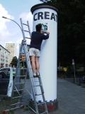 Uli Strempel: Plakatierung Create Berlin